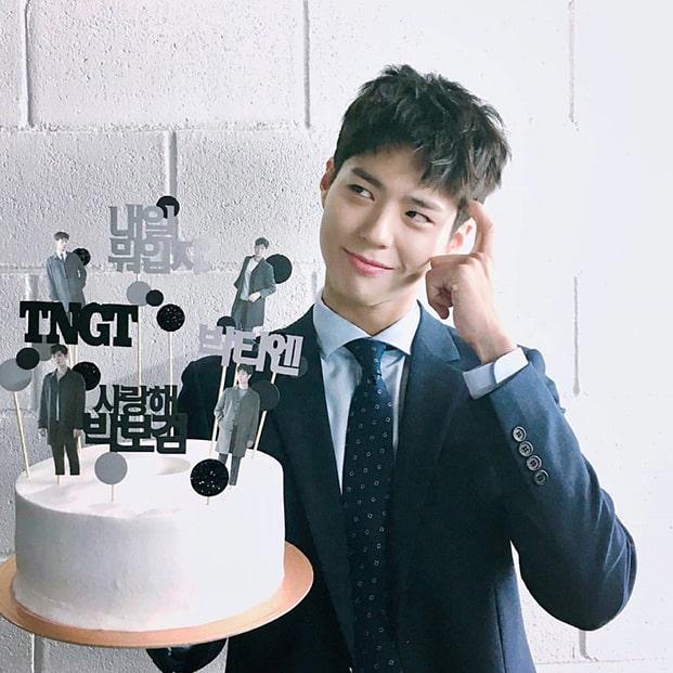 Park Bo Gum cake